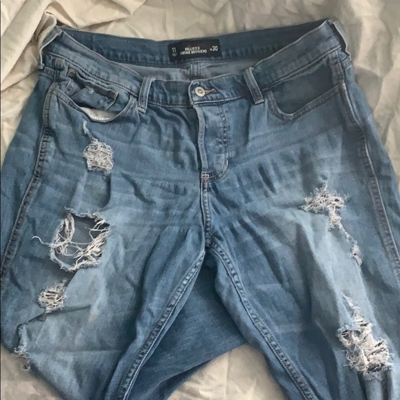 Hollister Denim - Size 11 Hollister Vintage Ripped Boyfriend Jeans